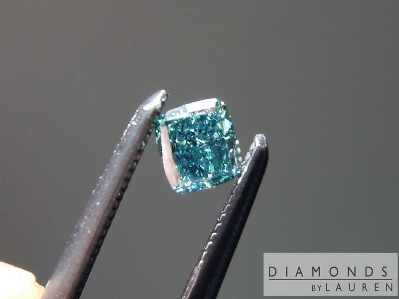 natural teal diamond