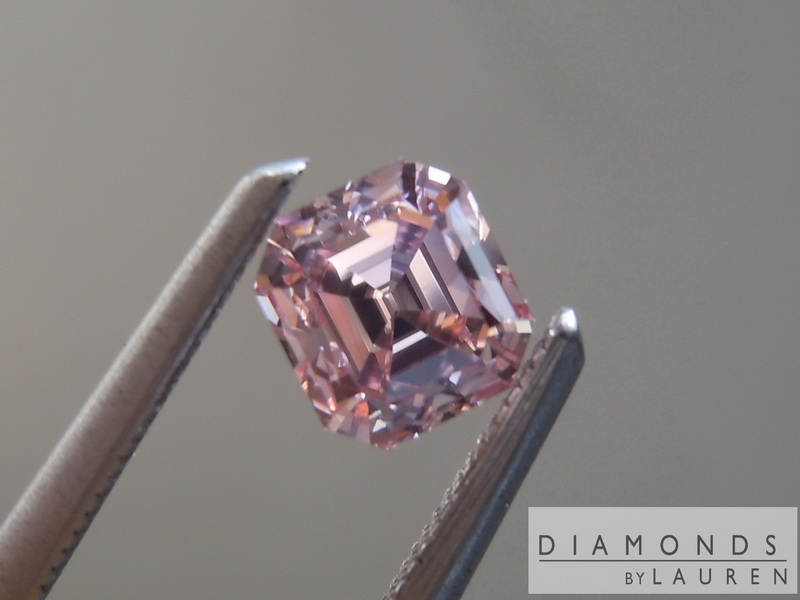 pink diamond emerald cut diamond loose diamond