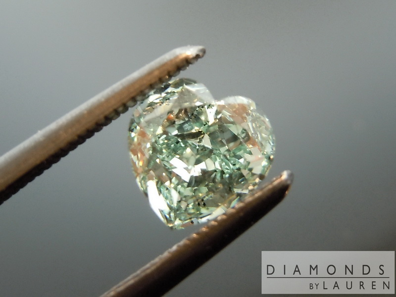 gia fancy intense green diamond