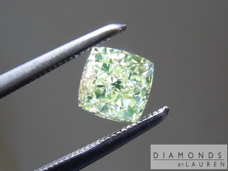 gia fancy yellow green diamond