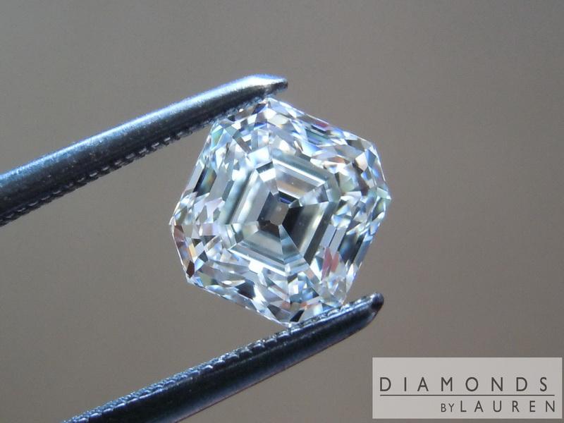 colorless diamond emerald cut diamond loose diamond