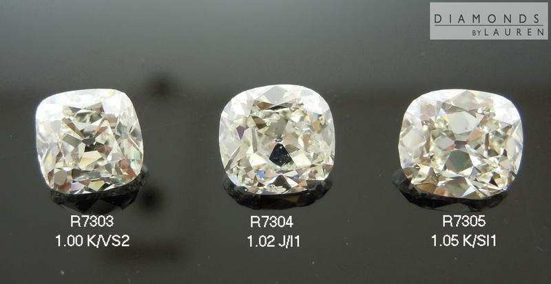 cushion compariosn diamond