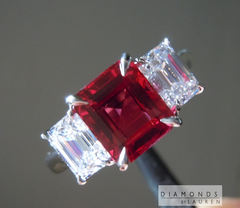 Natural Ruby Emerald Cut Ruby