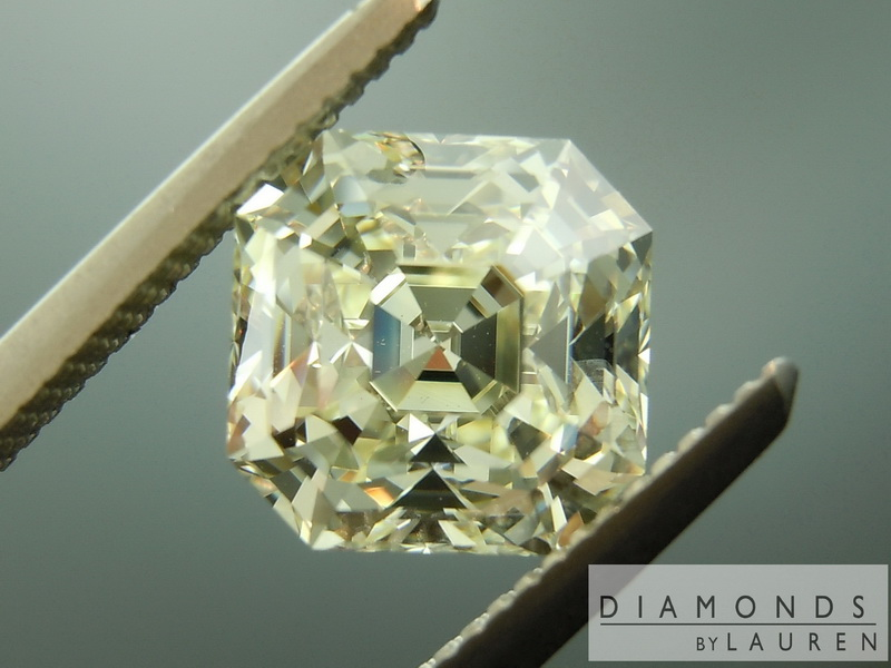 yellow octavia asscher diamond