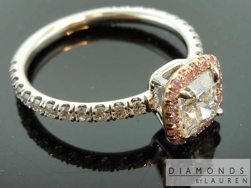 Colorless Diamond Cushion Cut Diamond Diamond Ring