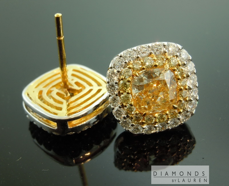 canary diamond earrings