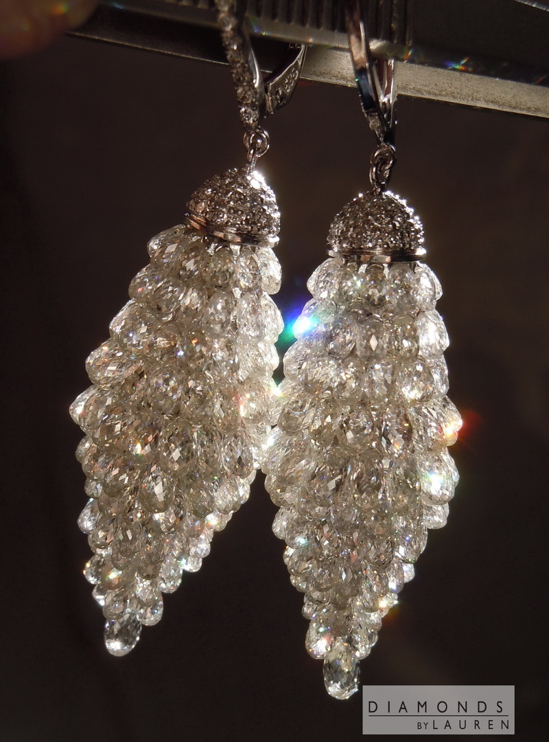 briolette diamond earrings