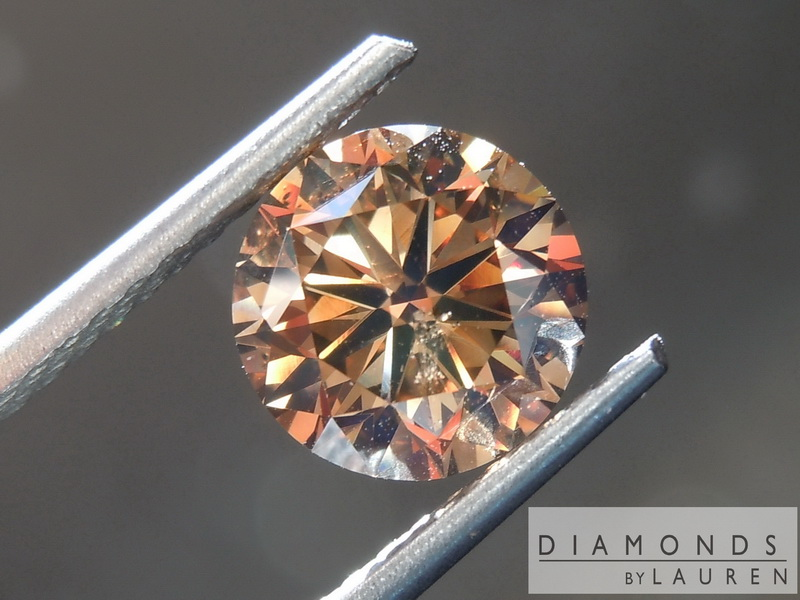 brown round brilliant diamond