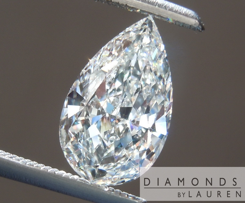 colorless pear shape diamond