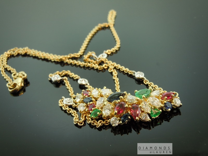 diamond and gemstone necklace
