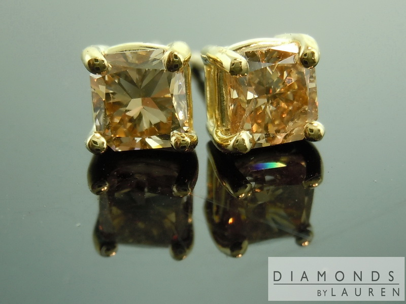 chocoalte diamond earrings