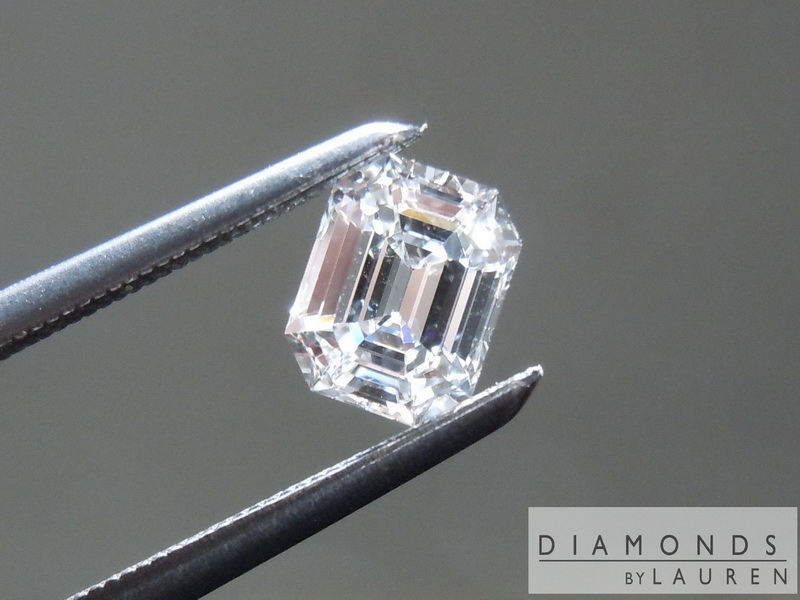 colorless diamond emerald cut diamond loose diamond