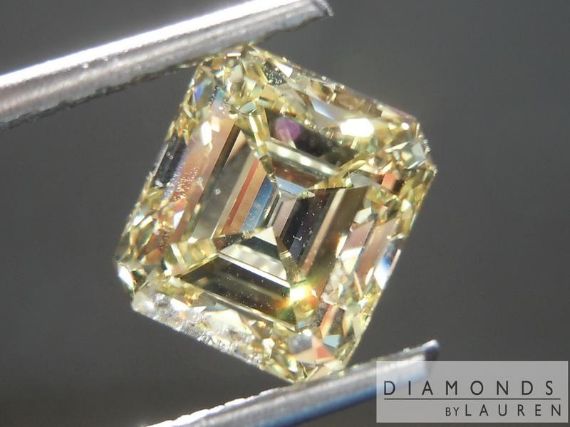 yellow diamond emerald cut diamond loose diamond