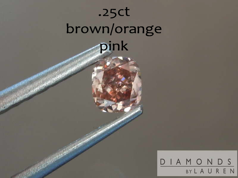 brown orange pinkdiamond