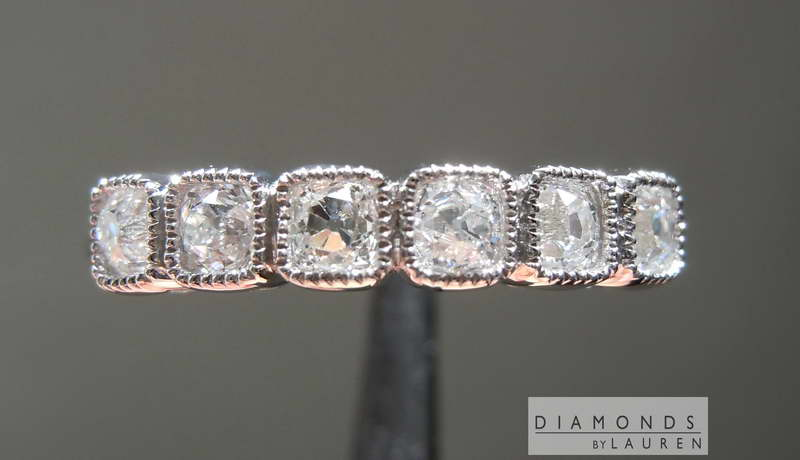 colorless diamond band