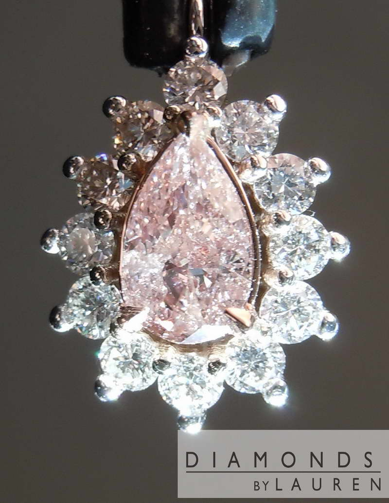 pink diamond pendant