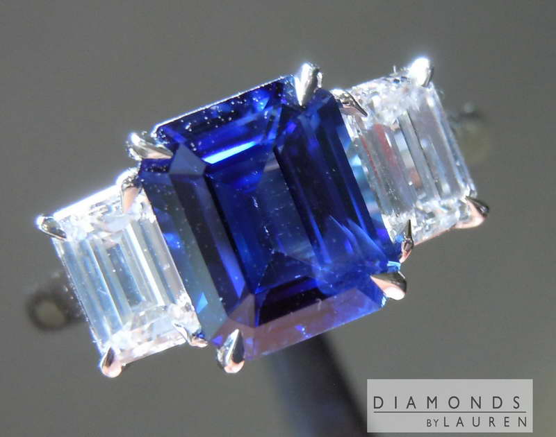 natural sapphire diamond ring