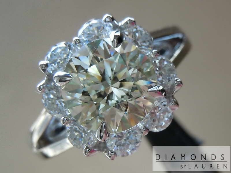 ivory diamond ring