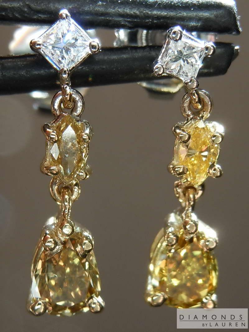79ctw Multi Colored Diamond Earrings