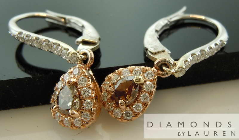 chocolate diamond earring