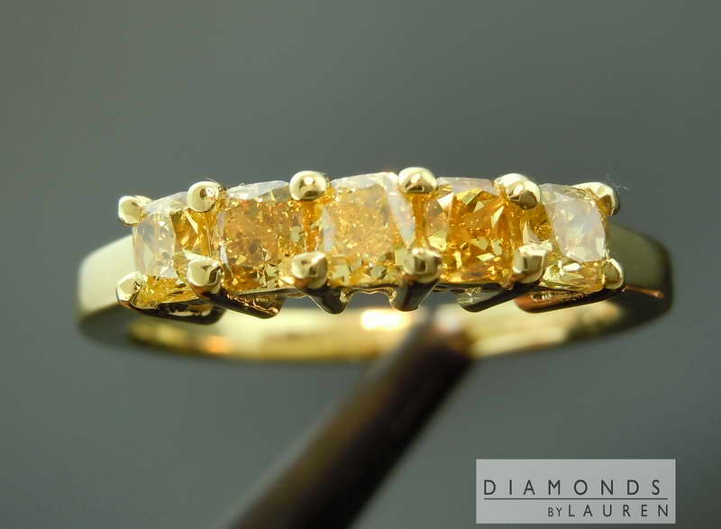 natural yellow diaimond ring