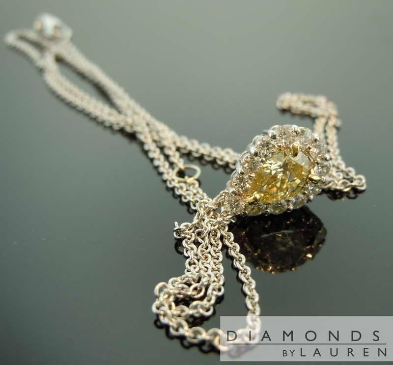 yellow diamond necklace