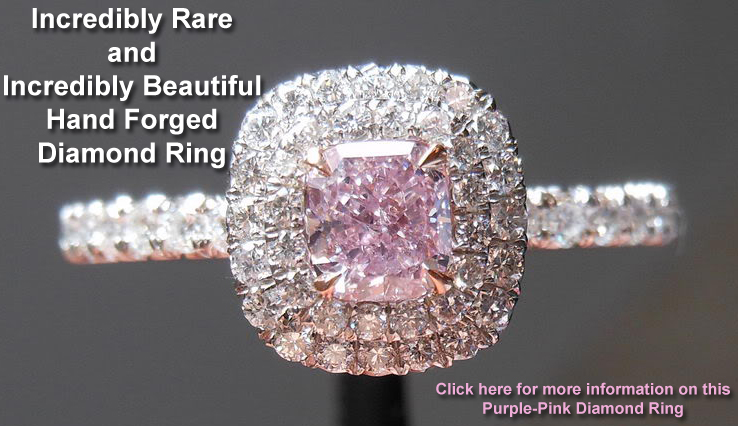 purple-pink diamond ring