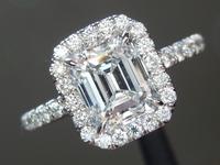 1.14ct E VVS2 Emerald Cut Diamond Ring R1958