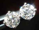 SOLD....Diamond Earrings: .54ct tw Round Brilliant Diamond Stud Earrings R1913