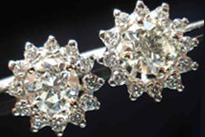 SOLD....Diamond Stud Earrings and jackets: 1.83ct TW Round Brilliant SAM SPECIALS R2318
