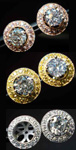 Earring Jackets: Pink Diamond, Yellow or White-