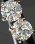 SOLD...Diamond Stud Earrings: .80ct G-H SI Round Brilliant Diamond Studs R2326