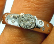 SOLD....50ct Light Gray Round Brilliant Diamond Ring R2316