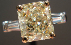 SOLD....2.09ct Y-Z I1 Radiant Cut Diamond 14Karat White and Yellow Gold Diamond Ring R2445