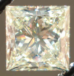 Loose Diamond:1.17ct Princess Cut Diamond in a Light Yellow Color R2450