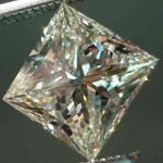 SOLD....Loose Diamond: 1.23 Faint Yellow Princess Cut Diamond- I1, but not too much Doody R2484
