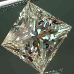 SOLD....Loose Diamond: 1.23 Faint Yellow Princess Cut Diamond- I1, but not too much Doody R2484