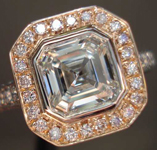 Diamond Ring: 1.29ct F SI2 Asscher Cut GIA Fancy Pink Diamond Halo R2666