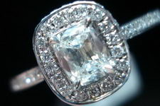 SOLD.....Halo Diamond Ring: .45 Cushion Floating Halo R2839