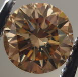 SOLD.....Loose Diamond: Brown Round Diamond .64cts Well cut R2859