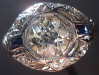 SOLD.....Vintage Jewelry: 1.04ct OEC Diamond Ring Platinum date 1927