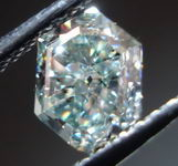 SOLD.....Loose Diamond: 1.08ct Fancy Light Greyish Green Hexagonal Diamond- LOOKS BLUE R2922