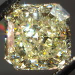 SOLD.....Loose Diamond: 3.60ct Fancy Light Yellow Radiant Diamond GIA- less filling R2965