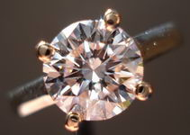 SOLD....Pink Diamond Ring: 1.62ct Faint Pink Round Diamond GIA Subtle yet potent R1941