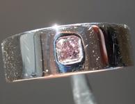 SOLD.....Purple Diamond Ring: .24ct Fancy Grayish Pinkish Purple Radiant Cut GIA 14K Gold Band R2982