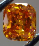 SOLD....Loose Diamond: .54ct Cushion Vivid Yellowish Orange Diamond GIA WOWSER! R3012