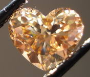SOLD.....Loose Diamond: 1.15ct Coffee Colored Heart Shape Diamond Cool Brown color R3025
