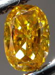 SOLD...Loose Diamond: .31ct Fancy Vivid Yellow Orange Oval Diamond Bright GIA R3018
