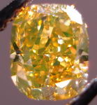 SOLD....Loose Diamond: .78ct GIA Fancy Deep Brownish Orangy Yellow Cushion- cant decie what color it is! R3021