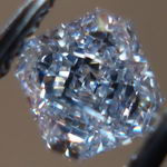 SOLD....Loose Diamond: .42ct Fancy Grayish Blue Radiant Cut Diamond GIA R3037